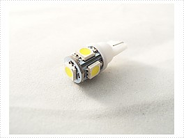 Superlight LED žárovka T10 W5W 12V 5led diod SMD 5050 bílá