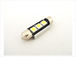 Superlight LED žárovka sufit 12V 36mm 3led diody SMD 5050 CAN-BUS bílá 6500K