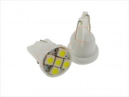 Superlight LED autožárovka T10 W5W 12V 5 Led diod SMD 1210 bílá